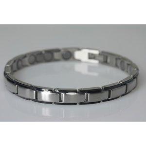 "8368SB-4 Extrastarkes Damenarmband in ""Silber-Schwarz"""""