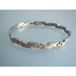 4110B Damen Magnetschmuck Armband bicolor