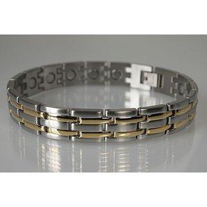 8230B Magnetschmuck Armband für Herren bicolor