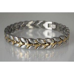 8206B Magnetschmuck Armband für Damen, bicolor
