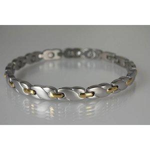 8561B Damen Magnetarmband teilweise vergoldet