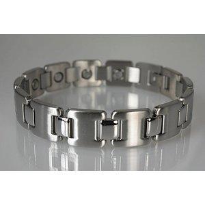 8055S Magnetschmuck Armband für Herren Silber