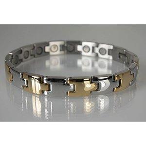 8096B Magnetschmuck Armband für Damen und Herren bicolor