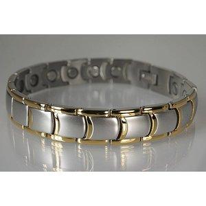 8263B NEU: Magnetschmuck Armband für Herren Stil bicolor