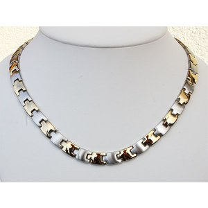 H9015B Magnetschmuck Halskette bicolor