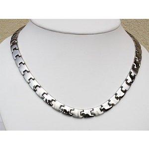 H9015S Magnetschmuck Halskette für Damen und Herren Silber