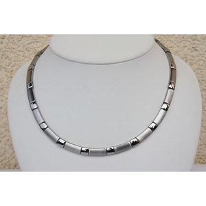 H9058S Magnetschmuck Halskette Silberfarben