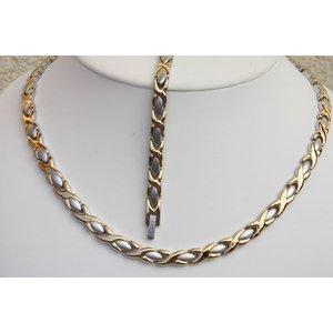 H9024B-Set Magnetschmuck Halskette und Armband im Set