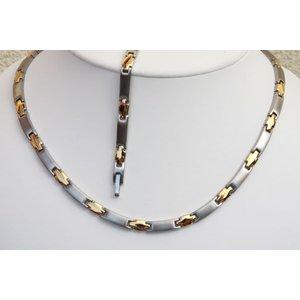 H9042B-Set Magnetschmuck Halskette und Armband