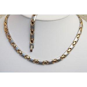 HG9011B-Set Magnetschmuck Halskette mit Germanium und Armband im Set