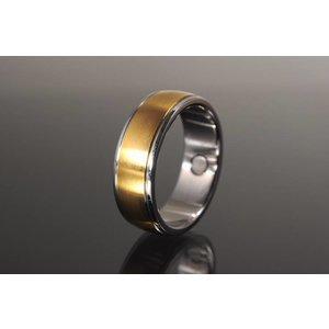 R3184 Edler Magnetschmuck Ring bicolor