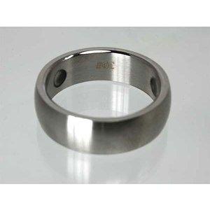 R3689 Schöner Magnetschmuck Ring matt gebürstet