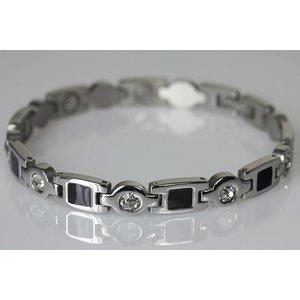 8431S Magnetschmuck Armband mit Zirkonia