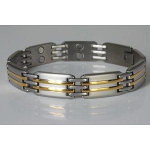 NEU! 8012B Magnetschmuck Herrenarmband bicolor