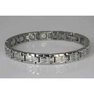 NEU! 8303S Magnetschmuck Armband im Stil Silber