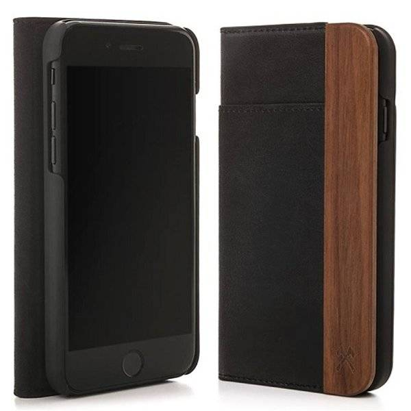 Woodcessories EcoWallet Leather Walnut iPhone SE