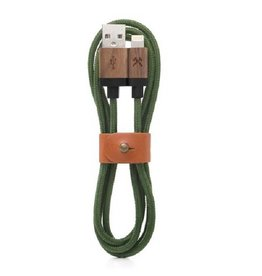 Woodcessories EcoCable Lightning Walnut/Green