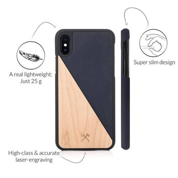 Woodcessories EcoSplit Maple/Navy iPhone Xs Max