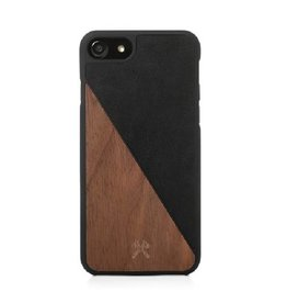 Woodcessories EcoSplit Leather Walnut/Black iPhone 7/8