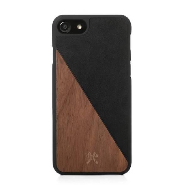 Woodcessories EcoSplit Leather Walnut/Black iPhone 7/8