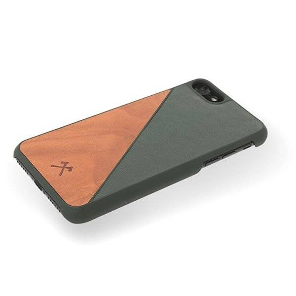 Woodcessories EcoSplit Leather Cherry/Green iPhone 7/8