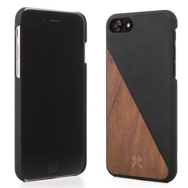 Woodcessories EcoSplit Leather Walnut/Blk iPhone 7/8P