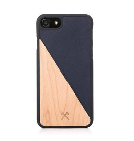 Woodcessories EcoSplit Leather Maple/Navy iPhone 7/8P