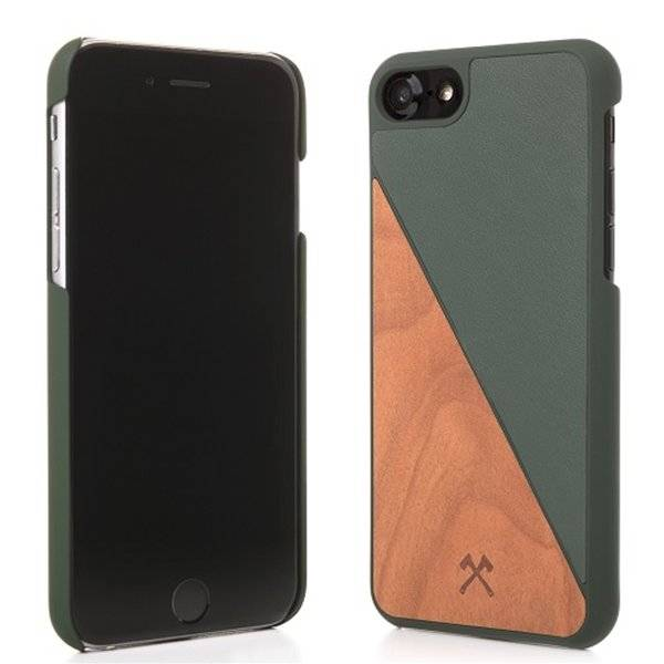 Woodcessories EcoSplit Leather Cherry/Grn iPhone 7/8P