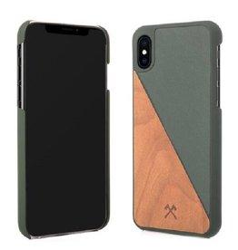 Woodcessories EcoSplit Cherry/Green iPhone Xs Max