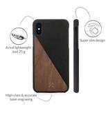 Woodcessories EcoSplit Walnut/Black iPhone Xs Max