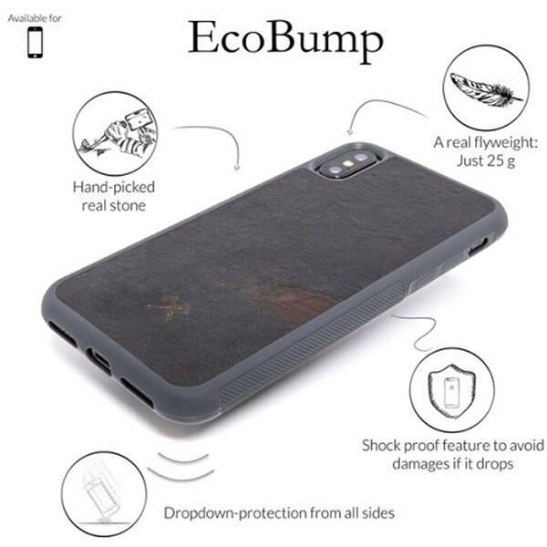 Woodcessories EcoCase Stone Volcano Black iPhone XR