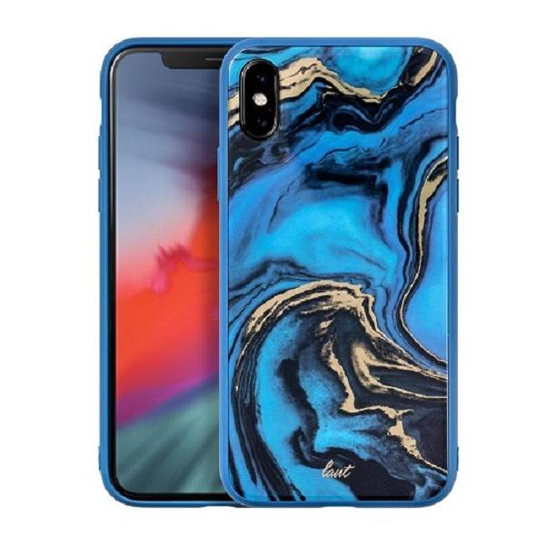 LAUT Mineral Glass iPhone Xs Max Blue
