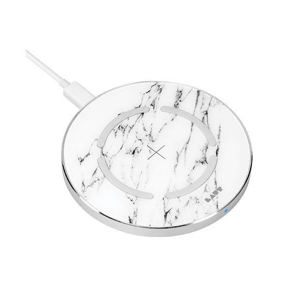 LAUT Wireless charger Marble White