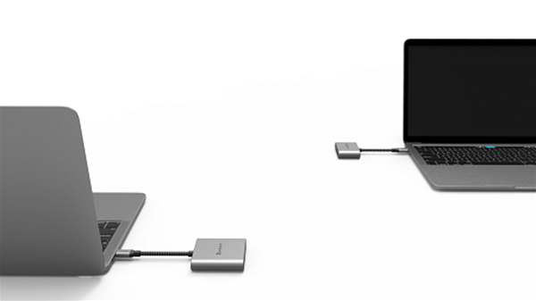 ADAM elements CASA Hub H2 Grey USB-C 3.1 to HDMI x2
