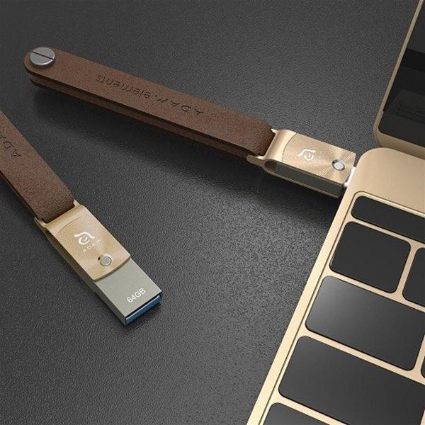 ADAM elements ROMA 64 Gold USB-C / USB-A Flash Drive