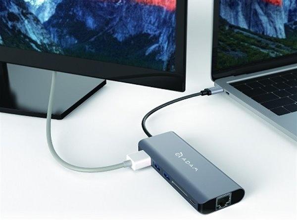ADAM elements CASA A01 USB-C 3.1 6 port Hub Grey
