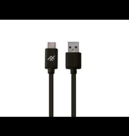 iFrogz Unique USB A To USB C Cable 1m Black