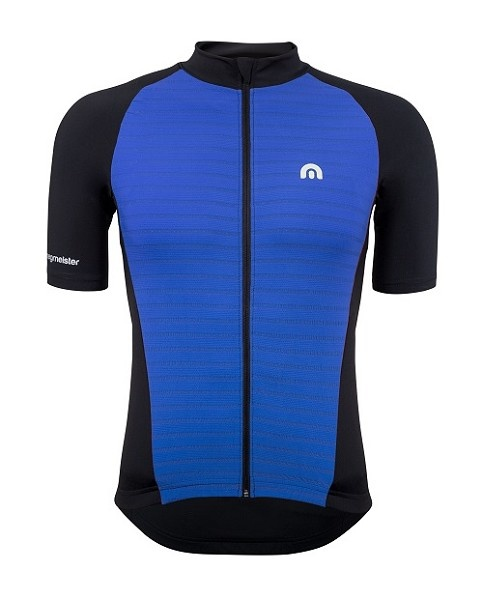 Megmeister Jersey Plain Stripe Cosmic Blue L