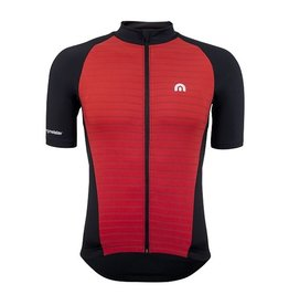 Megmeister Jersey Plain Stripe Racing Red L