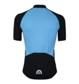 Megmeister Jersey Plain Stripe Aquarius Blue M
