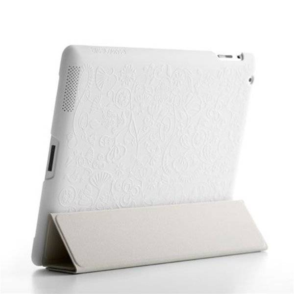 Bluelounge Shell Floral White iPad 2/3/4