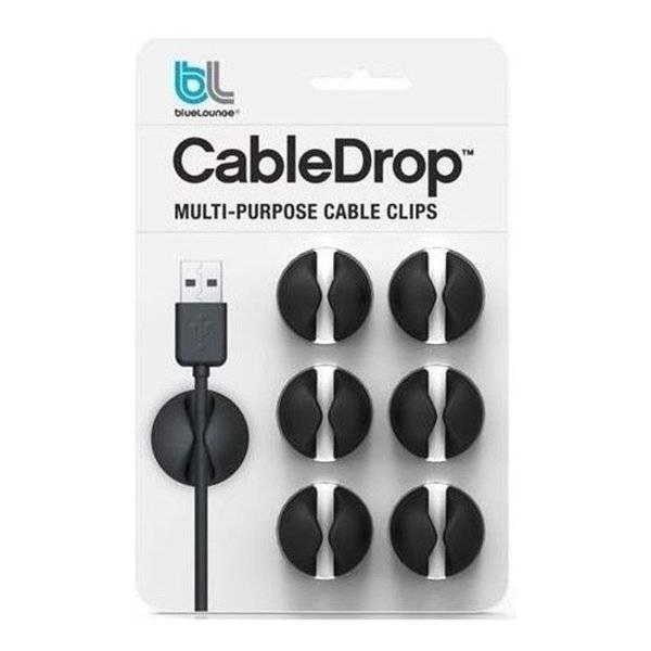 Bluelounge CableDrop 6-pack Black
