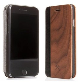 Woodcessories EcoFlipcover Walnut/Leather iPhone 7P