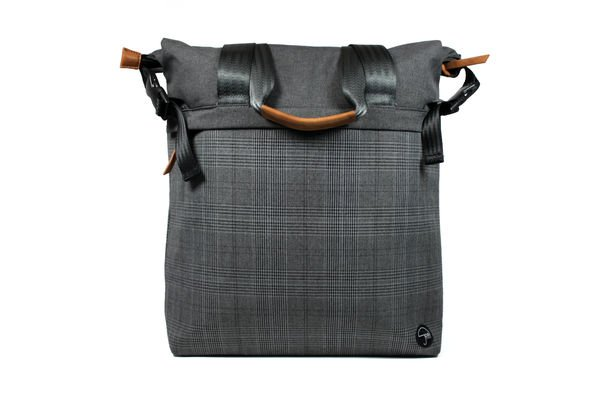 "PKG NS Tote 13"" Plaid Black"