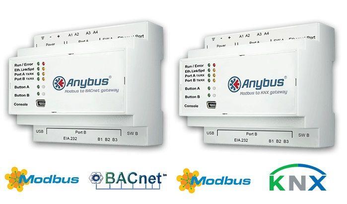 Anybus Gateways voor Modbus naar BACnet of KNX