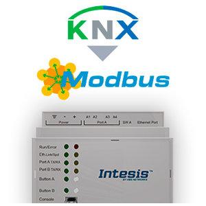 Intesis KNX TP naar Modbus TCP/RTU gateway