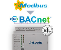 Intesis Modbus naar BACnet server gateway