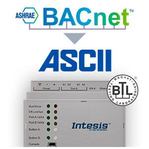 Intesis BACnet IP & MS/TP naar ASCII IP & serieel gateway