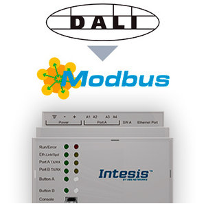Intesis DALI naar Modbus gateway