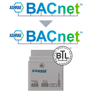 Intesis BACnet MS/TP to BACnet IP router